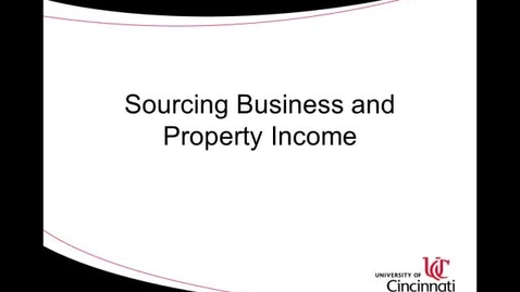 Thumbnail for entry ACCT8036 Lecture 2-3 Sourcing Business and Property Income
