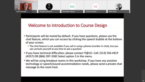 Thumbnail for entry Anna Donnell - Introduction to Course Design | Thursday 11/19