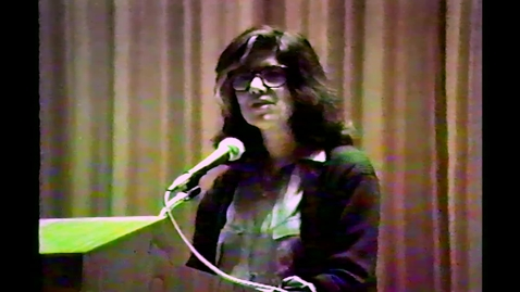 Thumbnail for entry 1986-02-20 Susan Songtag DAAP Lecture Series