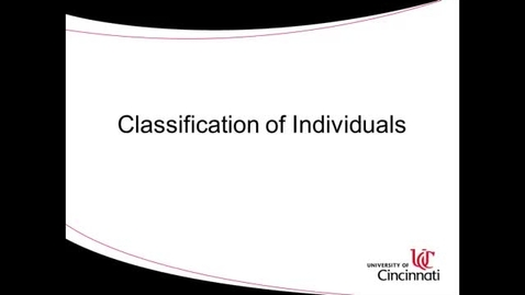 Thumbnail for entry ACCT8036 Steinke Lecture 1-2 Classification of Individuals