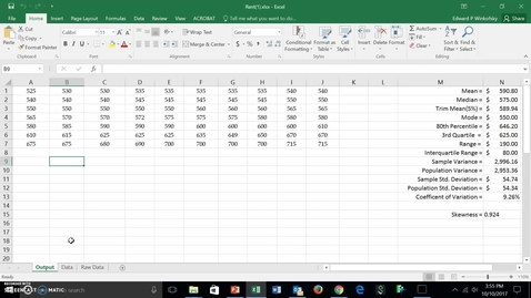 Thumbnail for entry Measures of Variability with Rent Data