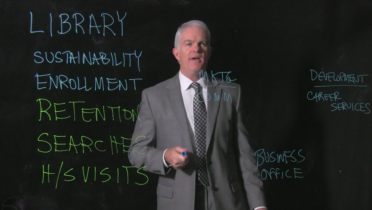 Jeff Bauer, Dean of UC Clermont College, Lightboard Video, 12/18/2015