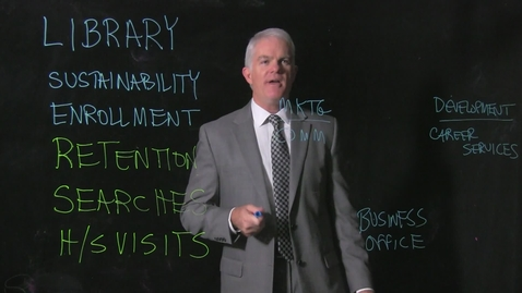 Thumbnail for entry Jeff Bauer, Dean of UC Clermont College, Lightboard Video, 12/18/2015