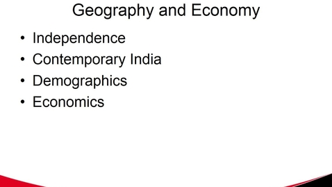 Thumbnail for entry Indian Politics, Geography and Economics