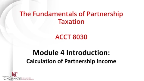 Thumbnail for entry ACCT8030 Module 4 Introduction