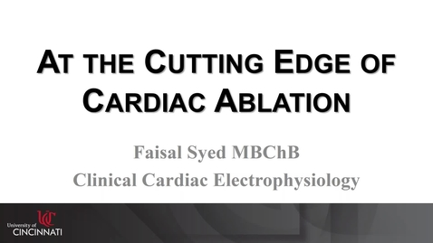 Thumbnail for entry 2017-09-18 12.01 UC Heart, Lung and Vascular Institute_ Seminar Series 2017-18