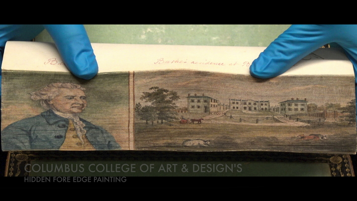 Hidden Fore Edge Painting - Columbus College of Art and Design