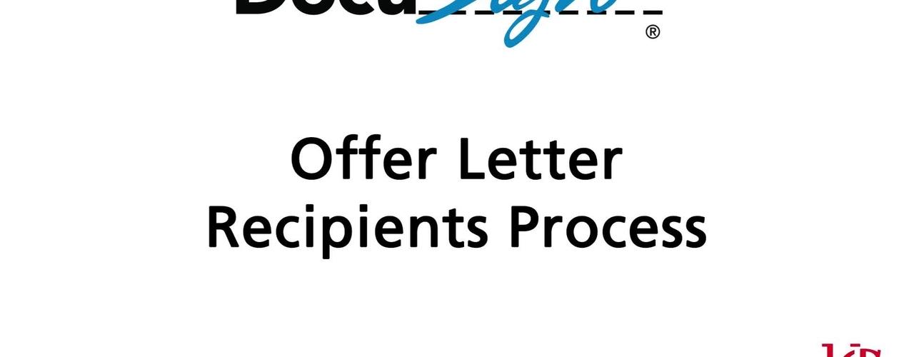 DocuSign: Offer Letter Recipient Process