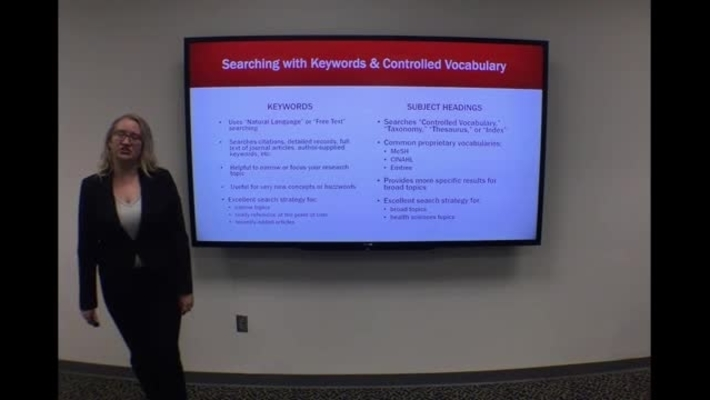 Keywords and Subject Headings - Clip from HSL Introduction to Literature Searching