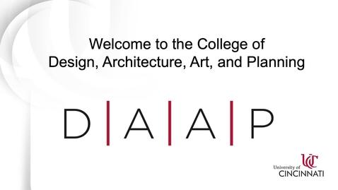 Thumbnail for entry UC DAAP Virtual Tour