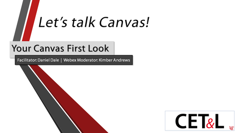Thumbnail for entry Daniel Dale - Canvas First Look | Wednesday 5/20