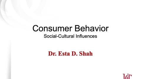 Thumbnail for entry Consumer Behavior 2