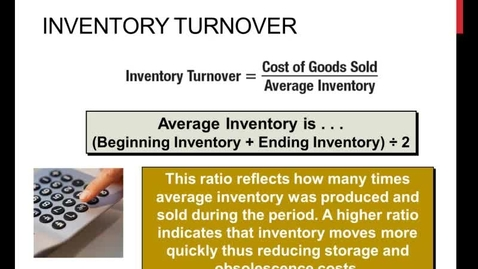 Thumbnail for entry Inventory Ratios