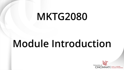 Thumbnail for entry MKTG2080_Module 13 Introduction