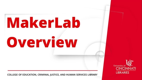 Thumbnail for entry MakerLab Overview
