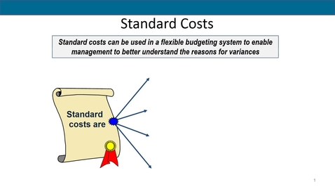 Thumbnail for entry Accounting 7012 Module 10 L3 Setting Standard Costs