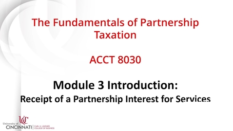 Thumbnail for entry ACCT8030 Module 3 Introduction
