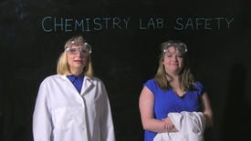 Thumbnail for entry Fannie & Bethany, UC Clermont College, Chemistry Lab Safety-4 Rules