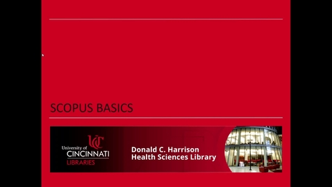 Thumbnail for entry Health Sciences Library: Scopus Basics