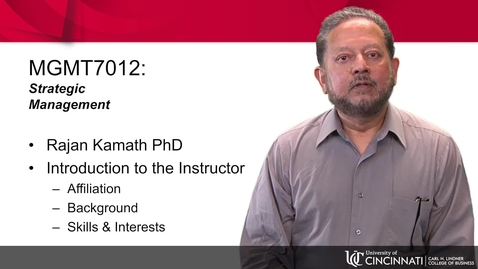 Thumbnail for entry MGMT 7012 Professor Introduction
