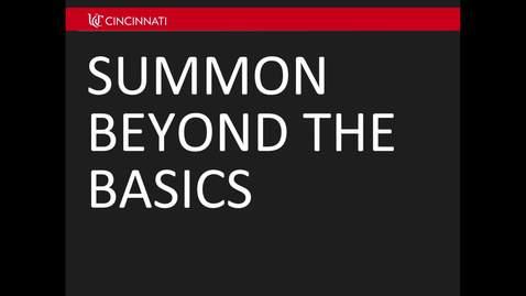 Thumbnail for entry Summon: Beyond the Basics