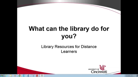 Thumbnail for entry Library Resources for Distance Learners