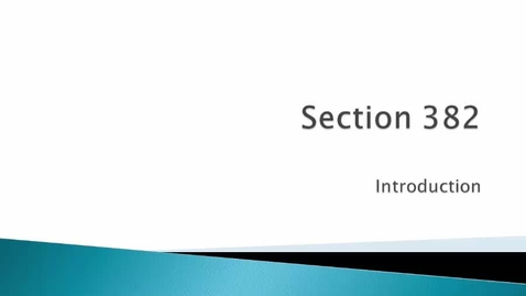 Thumbnail for entry Introduction to Section 382