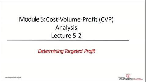 Thumbnail for entry Determining Targeted Profit