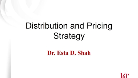 Thumbnail for entry  Lecture 6.1 Distribution and Pricing