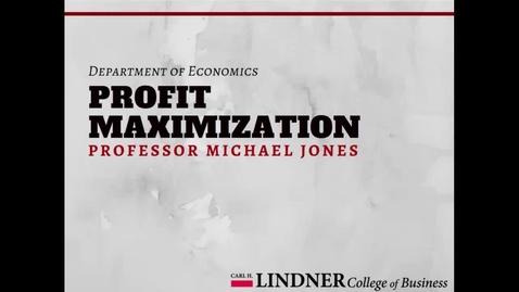 Thumbnail for entry Profit Maximization