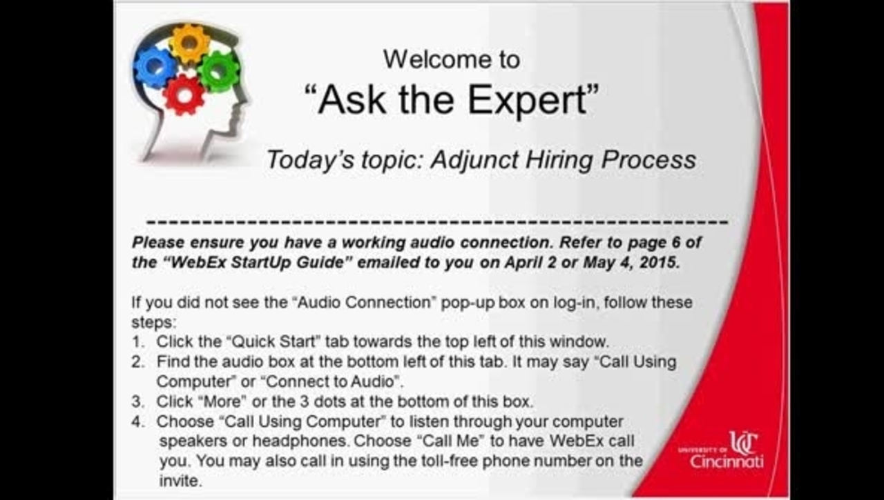 Adjunct Hiring Process - Success Factors Ask the Expert