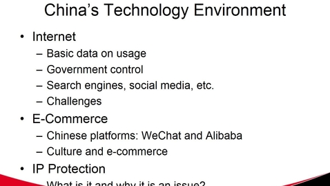 Thumbnail for entry China's Technology Environment