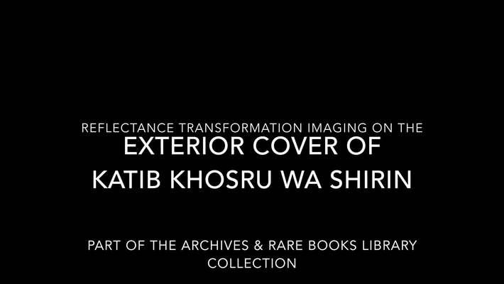 RTI on Katib Khosru wa Shirin (Exterior Cover)