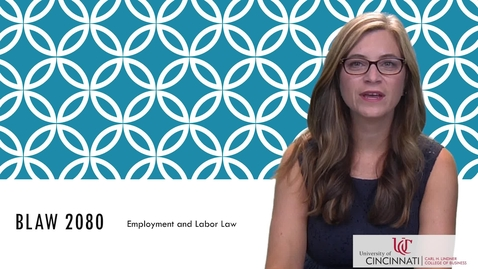 Thumbnail for entry BLAW2080_Employment and Labor Law