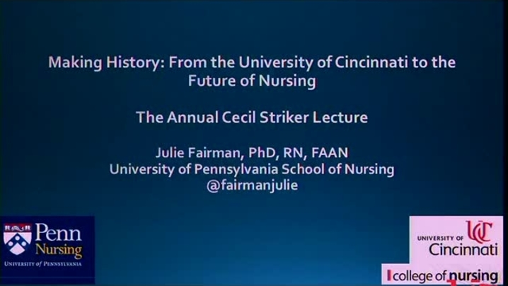 Thumbnail for channel Cecil Striker Lecture Series