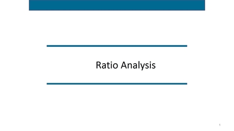 Thumbnail for entry Accounting 7012 Module 4 L5 Financial Ratios