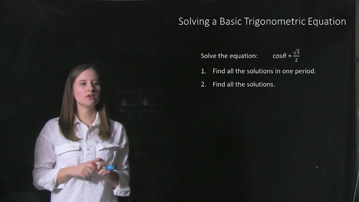 Professor Mary Sefcik, UC Clermont College, Trigonometry Equation