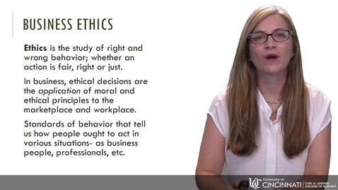 Thumbnail for entry BLAW 2080 - Module 2: The Importance of Ethical Decision Making