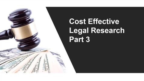 Thumbnail for entry Cost Effective Legal Research Video Part 3: History, Answers, Alerts, Topic Summaries, and Help