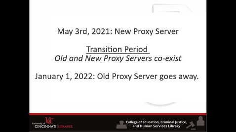 Thumbnail for entry Proxy Change: Next Steps and Fixing Links
