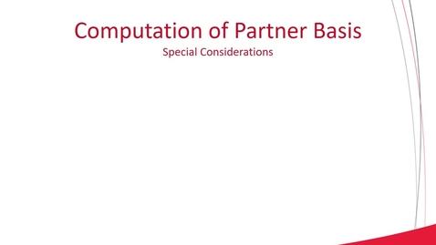 Thumbnail for entry ACCT 8030 L2-3 Partnership Formation and Computation of Partner Basis