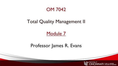 Thumbnail for entry OM 7042 Module 7 Overview