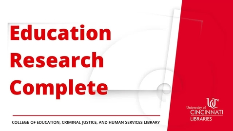 Thumbnail for entry Education Research Complete