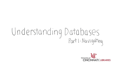 Thumbnail for entry Navigating Databases
