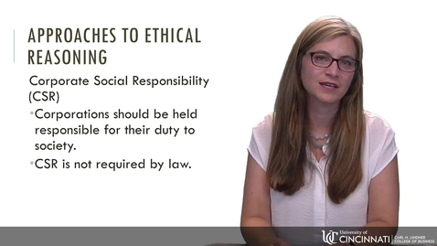 Thumbnail for entry BLAW 2080 - Module 2: Approaches to Ethical Decision Making
