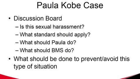 Thumbnail for entry Paula Kobe Case