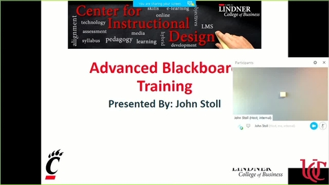 Thumbnail for entry Advanced Blackboard Training Recording July 2017