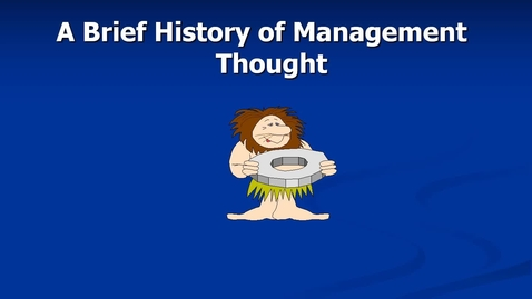 Thumbnail for entry Mgmt 7014 session 2 Major past perspectives revision narrated 2016.mp4