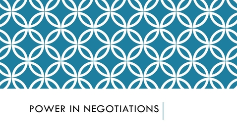 Thumbnail for entry BLAW2080_Power in Negotiations