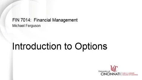 Thumbnail for entry Introduction to Options